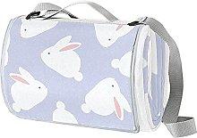 NYZXH Rabbit Purple Waterproof Outdoor Picnic