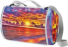 NYZXH Sunset Waterproof Outdoor Picnic Blanket
