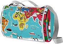 NYZXH World Map Waterproof Outdoor Picnic Blanket