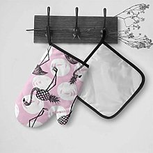 NZ Oven Kitchen Gloves Popular Pink Pineapple With