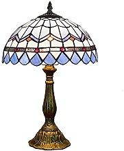 NZDY Creative Blue Style Table Lamp, Vintage Desk