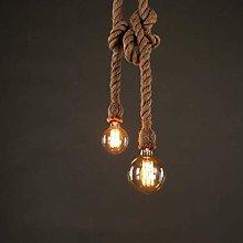 NZDY Creative Hemp Rope Pendant Lights Chandelier