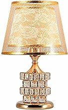 NZDY Crystal E27 Bedside Table Lamp,Warm Desk