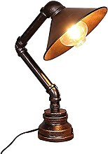 NZDY Desk Lamp Vintage Industrial Iron Water Pipe