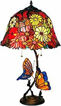 NZDY Large Style Table Lamp, Butterfly Flower