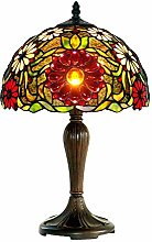 NZDY Mini Style Bedroom Table Lamp, Red Sun Flower