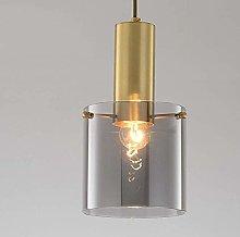 NZDY Modern Chandelier Copper Glass Hanging Light