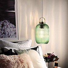 NZDY Modern Green Glass Ball Led Pendant Lamp