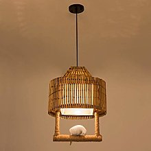 NZDY Retro Design Bamboo Weaving Pendant Lamp