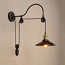 NZDY Vintage Retro Loft Wall Lamp Adjustable Iron