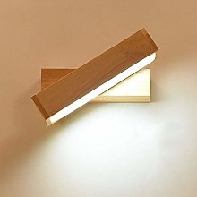 NZDY Wall Lamp, Led Wooden Art Wall Lighting with