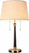 NZDY with Farbic Shade Bedside Table Lamp, Led