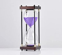 NZKW Square Wood Bottom Glass Hourglass 60 Minutes