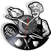 Nzlazbc Cooking Time Vinyl LP Record Wall Clock