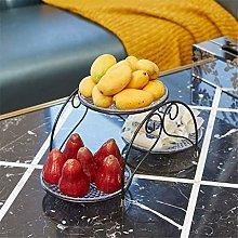 O&YQ Household Storage Bowls Fruit Basket 3-Layer