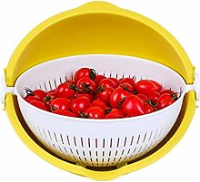 O&YQ Household Storage Bowls Fruit Bowl, Double