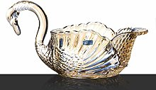 O&YQ Household Storage Bowls Glass Fruit Bowl,