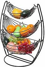 O&YQ Household Storage Bowls Iron Fruit Bowl,