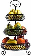 O&YQ Household Storage Bowls Iron Fruit Tray