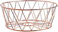 O&YQ Household Storage Bowls Metal Fruit Basket