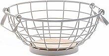 O&YQ Household Storage Bowls Wrought Iron White