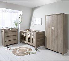 Oak 3 Piece Nursery Furniture Set - Tutti Bambini