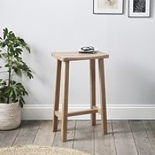 Oak Bar Stool, Natural, One Size
