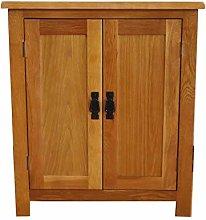 OAK Cupboard Rustic Small Storage Wooden Filing