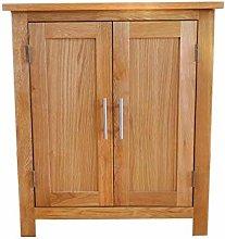 OAK Cupboard Small Storage Wooden Filing Cabinet