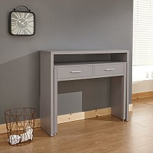 Oak Desk Extending Console Table Home Office