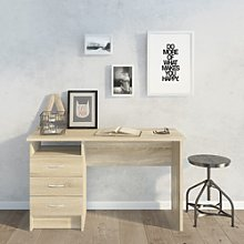 Oak Desk with 3 Drawers - Function