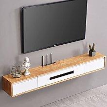 Oak Floating TV Stand/Shelf, 120CM Wall- mounted