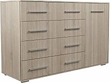 Oak FRIDA2 Chest of Drawers Modern Storage Cabinet