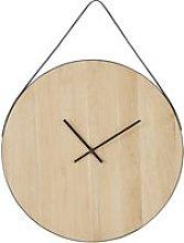 Oak hanging clock D70cm