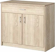Oak Lucca Chest Of Drawers Storage Cabinet Bedroom