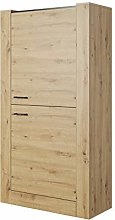 Oak LUGO Cabinet with 2 Door Clothes Storage with