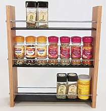 Oak Slate Design. Spice/Herb Rack .3 Tier, 21 Jar