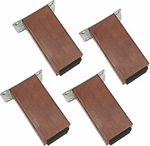 Oak Sofa Legs,Square Wooden Furniture Legs,Set of