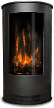 Oak Stoves Black Serenita Compact Freestanding