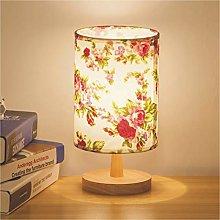 Oak Table Lamp, Minimalist Elegant Linen Oak
