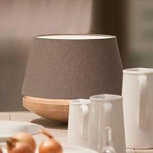 Oak wood and linen - table light Kjell, iron
