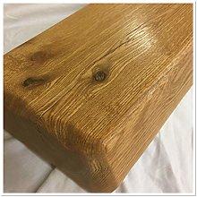 oakkraft uk Solid Oak Rustic Beam, Shelf Mantel