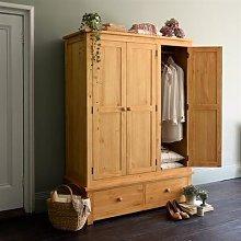 Oakley Pine Triple Wardrobe