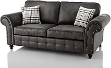 Oakridge Large Leather Sofa Suite - Available In