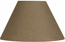 Oaks Lighting Linen Coolie Shade, Walnu