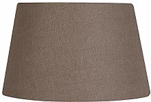 Oaks Lighting Linen Drume Shade, Mocha