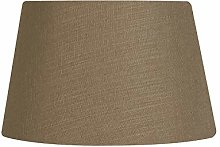 Oaks Lighting Linen Drume Shade, Walnu
