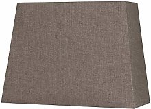 Oaks Lighting Linen Rectangle Shade, Mocha