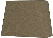 Oaks Lighting Linen Rectangle Shade, Walnu