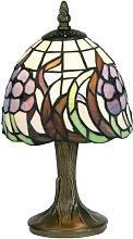 Oaks Lighting Tiffany Table Lamp, Blue Flower
